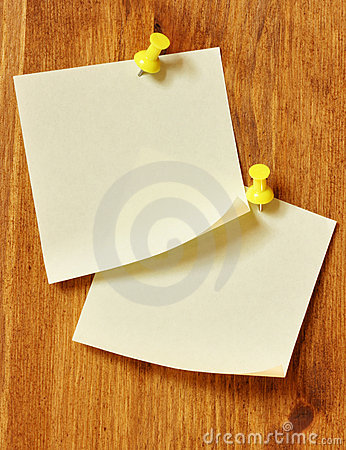 Two blank note papers