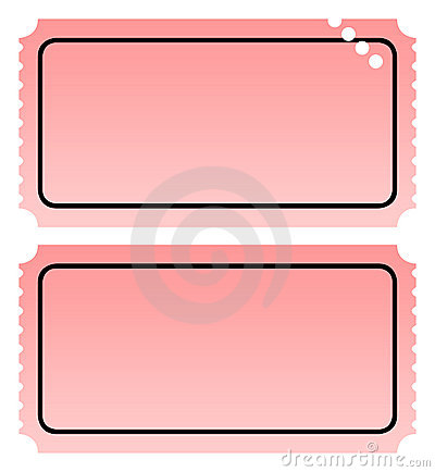 Two Blank Tickets Stock Images - Image: 14075574