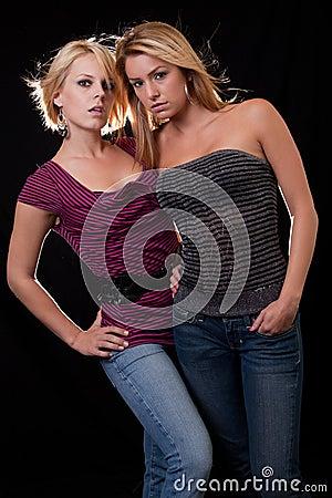 Two blond women