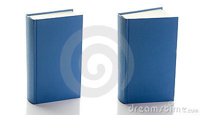 Two blue books