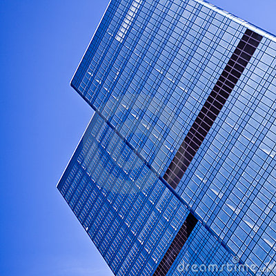 Free Two Blue Glass Business Skyscraper Towers Royalty Free Stock Photos - 11702908