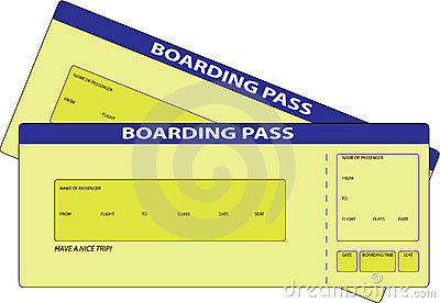 Two Boarding Pass Royalty Free Stock Photos Image 16823838