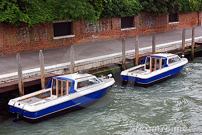 Two boats on channel