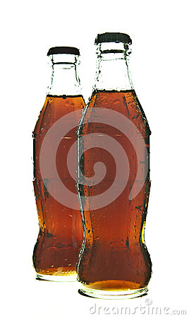Two bottles of cola soda Editorial Stock Photo