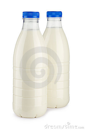 Two bottles of milk