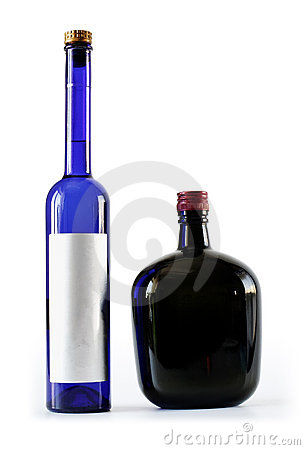 Two bottles - thick and thin