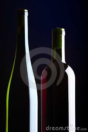 Two bottles with wine