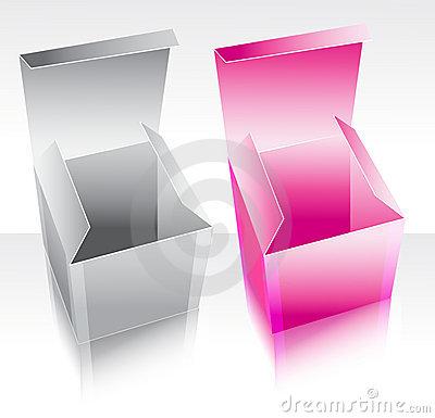 Two box pink and gray