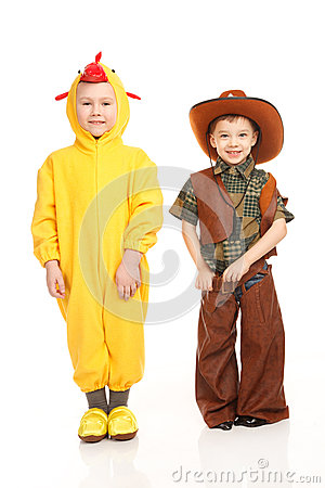 Two boys in costumes