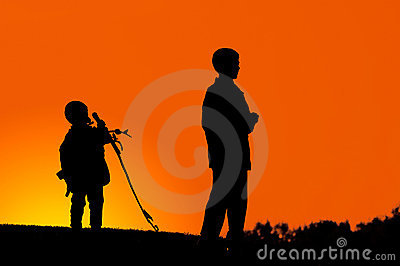 Two Boys on a Hill