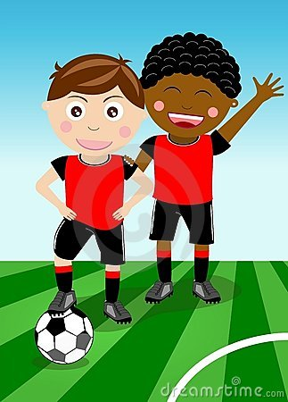 Free Two Boys Play Soccer Stock Images - 21242884