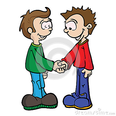 Two Boys Shaking Hands.eps Stock Vector - Image: 69913846
