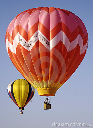 Free Two Brightly Colored Hot Air Balloons Stock Photo - 807870