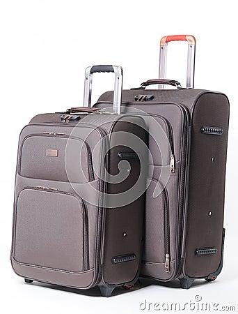 Two brown travel bag