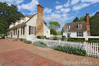 Two buildings on Duke of Gloucester Street in Colonial Williamsb Editorial Photo