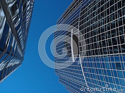 Two Buildings Meet