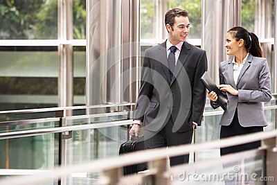 Two Business Colleagues Having Discussion