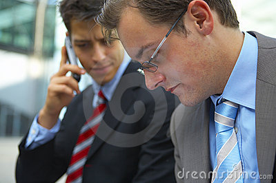 Two business men  concerned