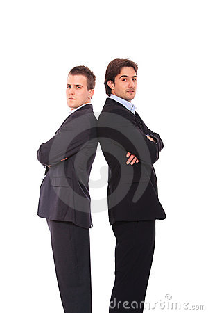 Two business men portrait