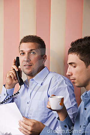 Two  Business Men Workplace Stock Image - Image: 10958261