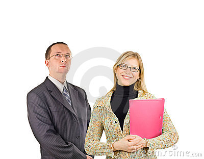 Two business people