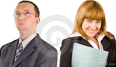 Two business people close-up
