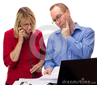 Two Business People Working Royalty Free Stock Photo - Image: 26030395