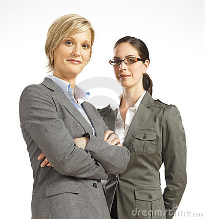 Free Two Business Woman Looking Confident Stock Images - 16807164