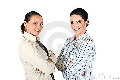Two business woman team