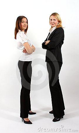 Two Business Women Standing