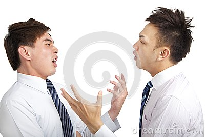 Two businessman have argument