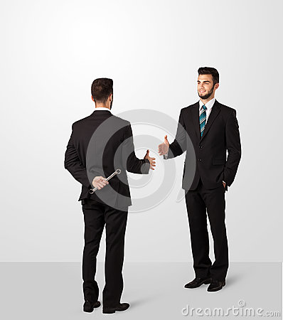Free Two Businessman Shake Hands Royalty Free Stock Photography - 51067907