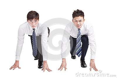 Two Businessman in a starting position