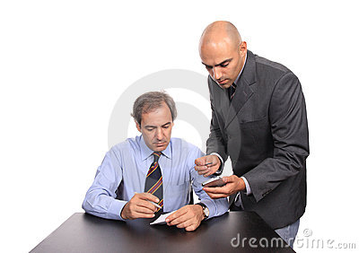 Two businessmen at desk