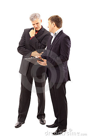 Free Two Businessmen Discussing Royalty Free Stock Images - 17197989