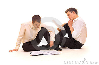 Two businessmen with documents