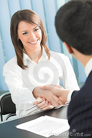 Free Two Businesspeople Royalty Free Stock Photography - 10891317
