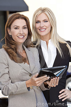 Two Businesswomen with Tablet Computer