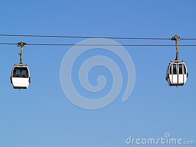 Two cable-car cabins