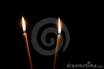 Two candle lights