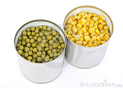 Two cans of vegetables