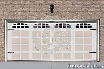 Two Car Garage Door Stock Photo - Image: 45318880