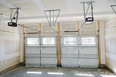 Two car garage interior