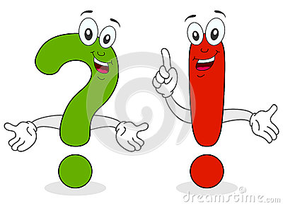 Question Exclamation Characters
