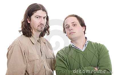 Two Casual Men Posing Stock Photography - Image: 8937942
