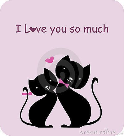 Two cat in love