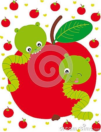 Two caterpillars