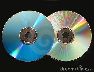 Two cd on black