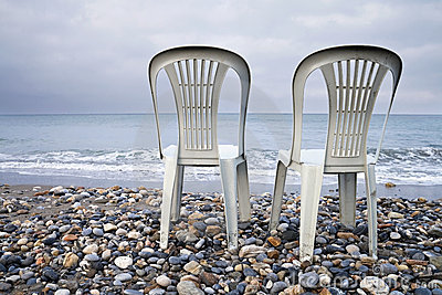 Two chairs on the seacoast