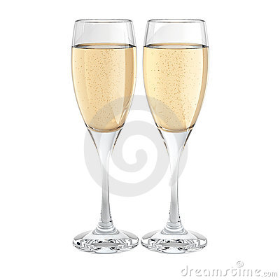 Free Two Champagne Glass Royalty Free Stock Photos - 10705578